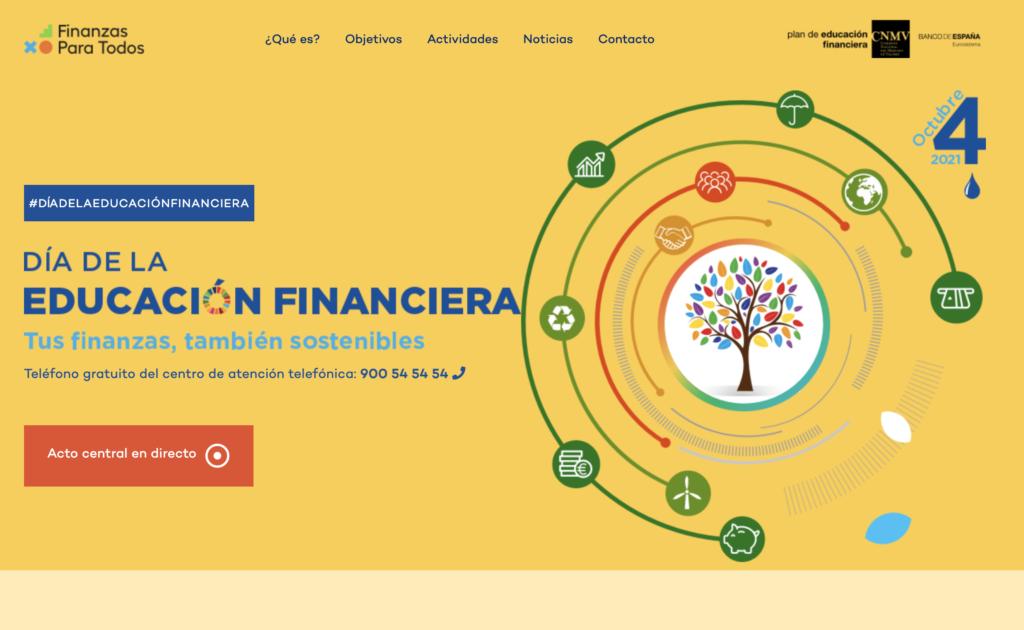 cartel día educación financiera